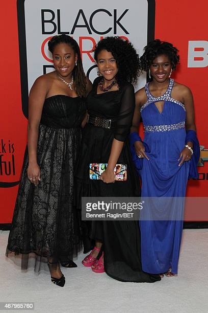 Kaya Thomas Gabrielle Jordan and Chental SongBembry attend the BET's Black Girls Rock Red Carpet sponsored by Chevrolet at NJPAC – Prudential Hall on...