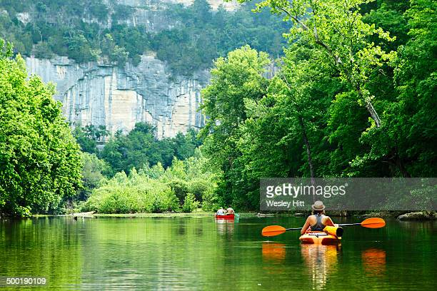 Kayak and canoe on the Buffalo National River