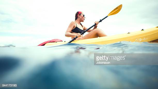kayak girl - jcbonassin stock-fotos und bilder