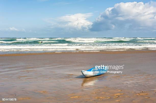 Kayak on an Empty Beach