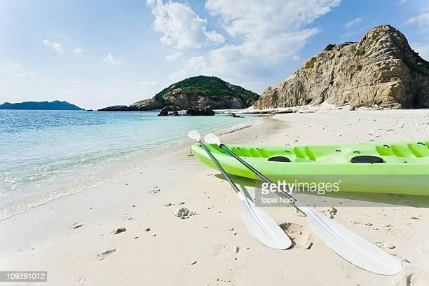 Kayak on deserted tropical island of Japan