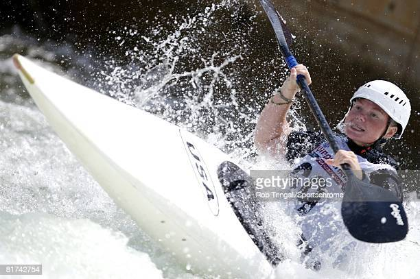 Kayaker Ashley Nee competes in the Women's K1 Kayak Single event during the Olympic Team trials for Whitewater Slalom at the US National Whitewater...