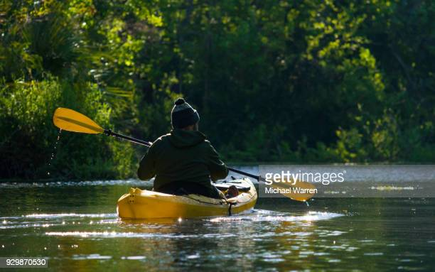 Kayaker at Dawn on the Silver River