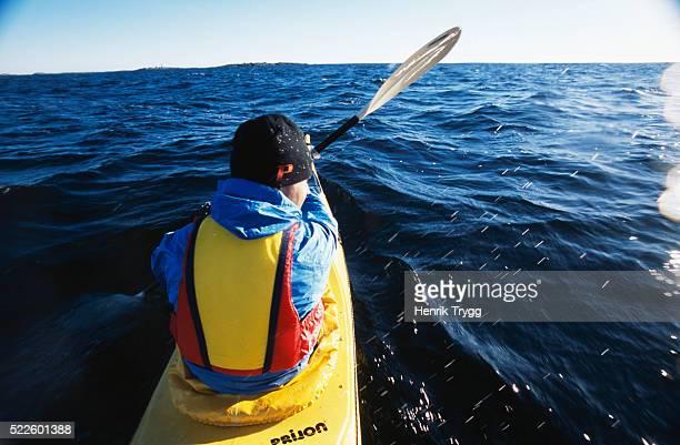 Kayaker in Stockholm Archipelago
