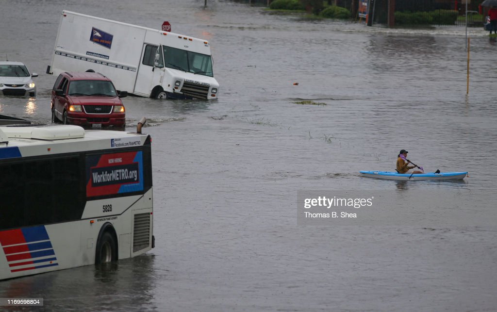 Tropical Storm Imelda Brings Heavy Flooding To Houston Area : News Photo