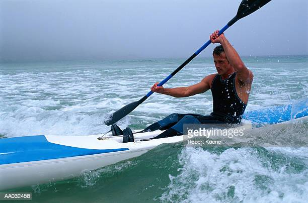 kayaker - sea kayaking stock pictures, royalty-free photos & images