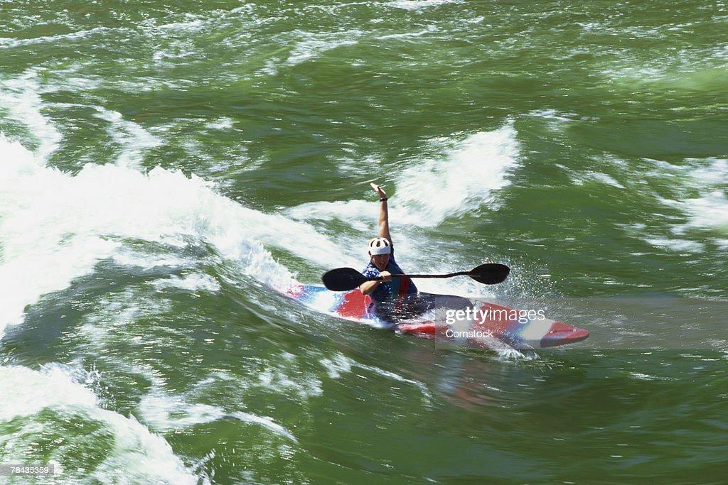 Kayaker successful through the Payette River , Idaho : Stockfoto