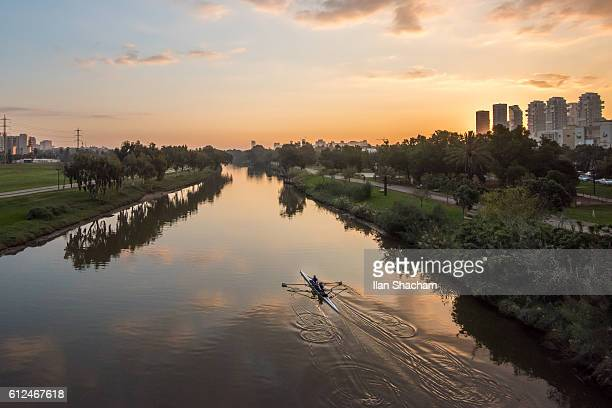 Kayakers at sunrise