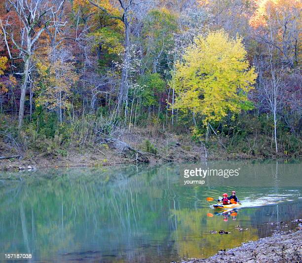 kayakers on big piney - ozark mountains stock pictures, royalty-free photos & images