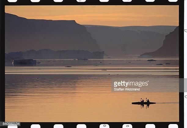 Kayakers on Kangerlussuaq Fjord