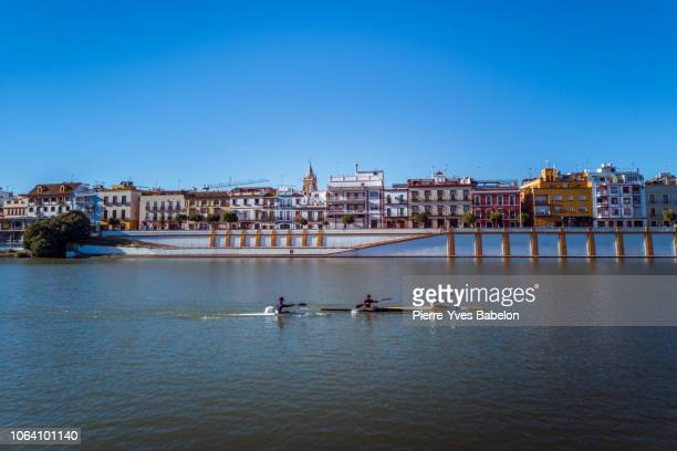 Kayakers on the the Guadalquivir river
