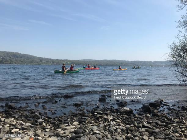 kayakers - heidi coppock beard stock pictures, royalty-free photos & images