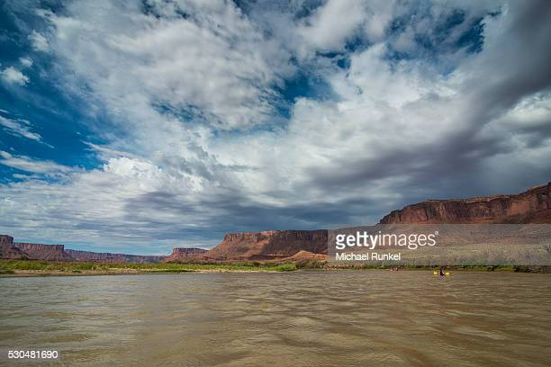 Kayaking and rafting down the Colorado River, Castle Valley, near Moab, Utah, United States of America, North America
