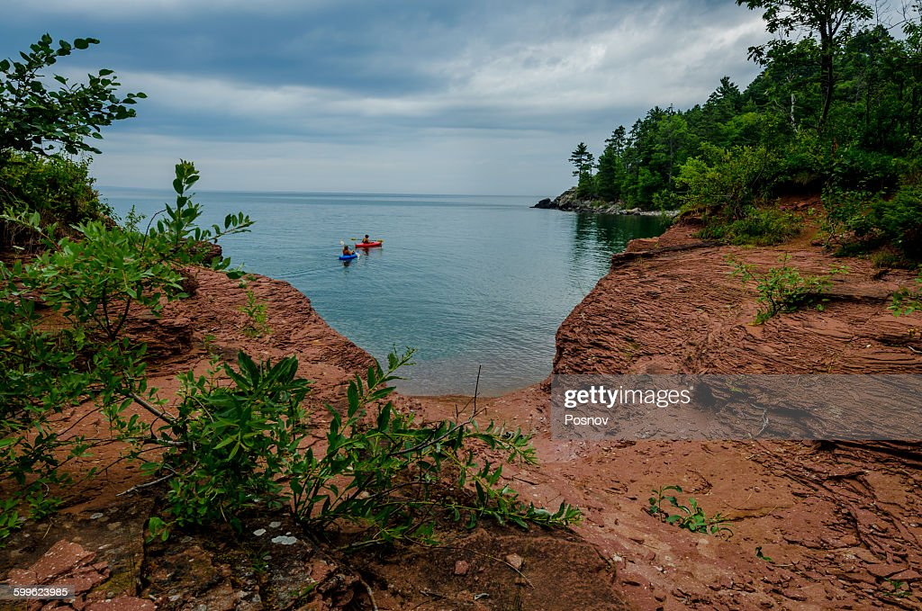 Kayaking at Little Presque Isle : Stock Photo