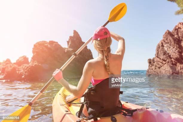 Kayaking & exploration of Mediterranean sea