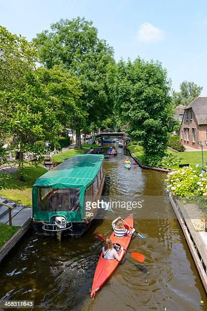 Kayaking in Giethoorn