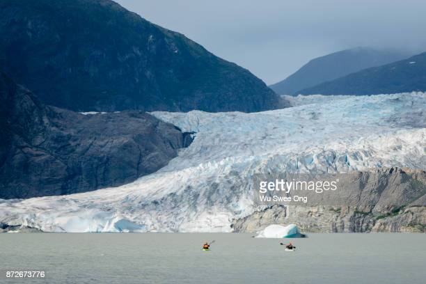 Kayaking in Mendenhall Lake