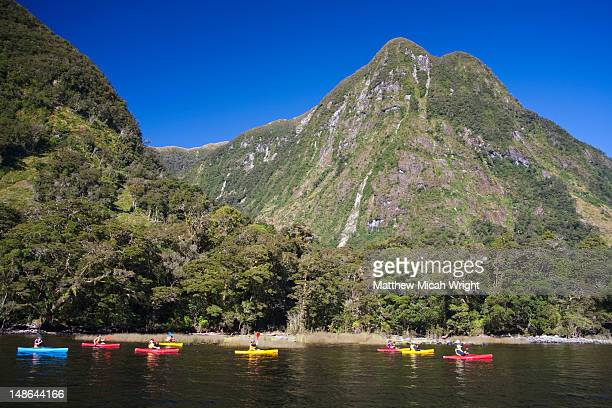 Kayaking is a great way to explore the Doubtful Sound in a natural way.