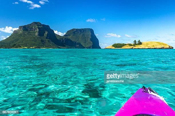 Kayaking on lagoon, Lord Howe Island, New South Wales, Australia