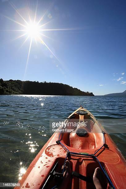 Kayaking on Lake Tarawera, Rotorua