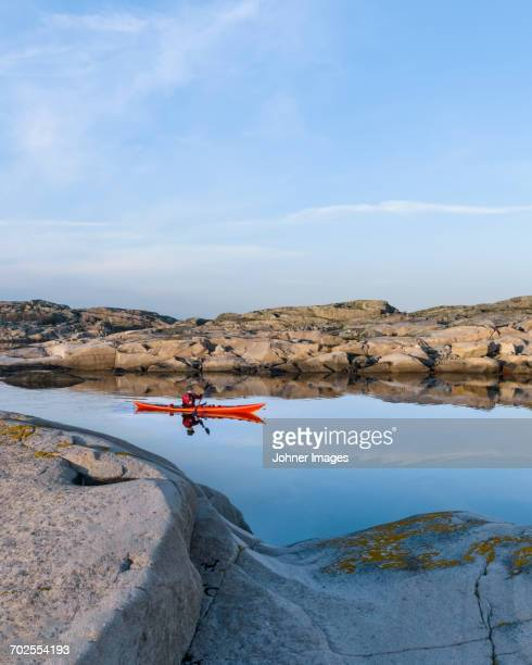 kayaking on sea - archipelago stock pictures, royalty-free photos & images