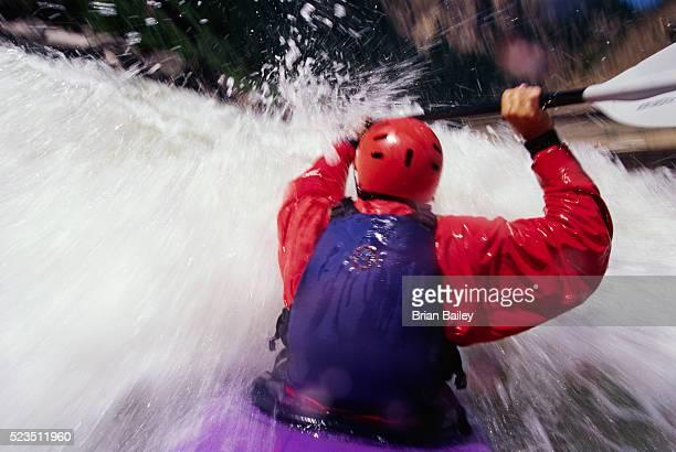 Kayaking on Shoshone Rapids