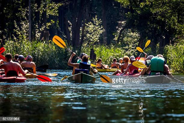 Kayaking on the river Krutynia, Poland