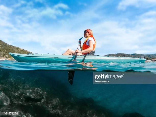 kayaking - kayak foto e immagini stock