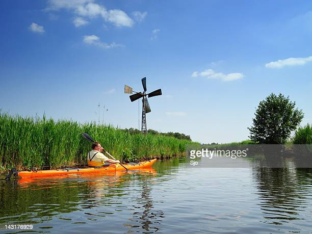 kayaking - overijssel stock pictures, royalty-free photos & images