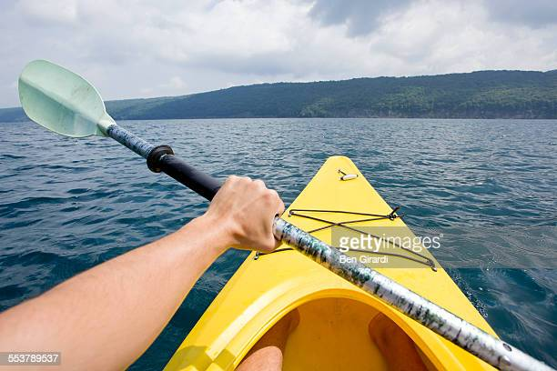kayaking - finger lakes stock pictures, royalty-free photos & images