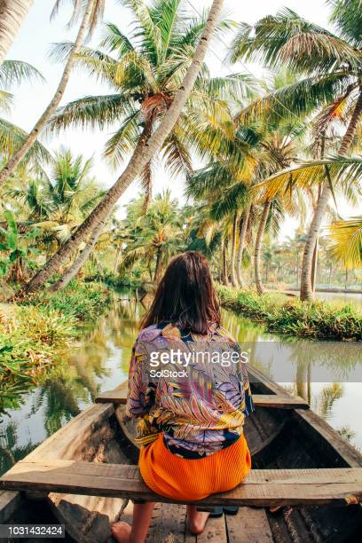 kayaking through the backwaters of monroe island - south asia stock pictures, royalty-free photos & images