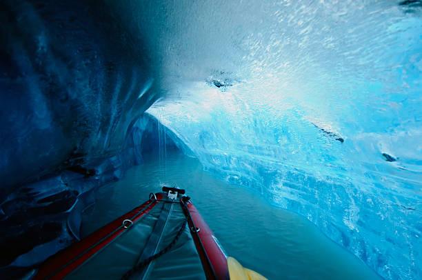 Kayaking Thru The Ice Cave Wall Art