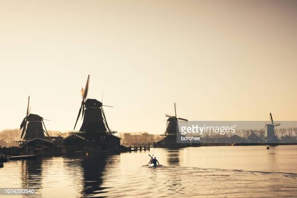 Kayaking To Zaanse Schans Mills