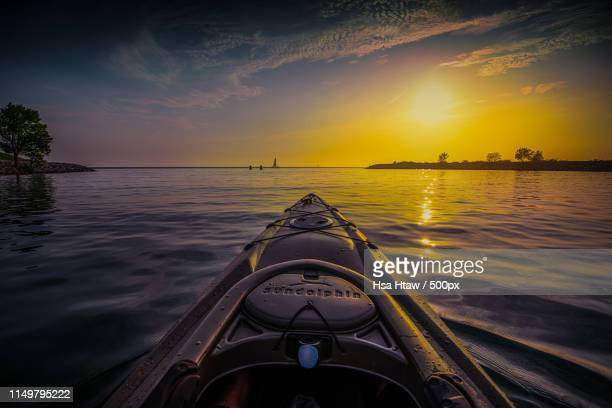 kayaking wilkeson pointe buffalo outer harbor - buffalo new york state stock pictures, royalty-free photos & images