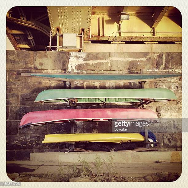 kayaks and the homeless - pittsburgh stock pictures, royalty-free photos & images