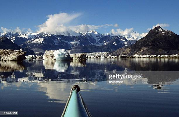 Kayaks Level View of Alaska