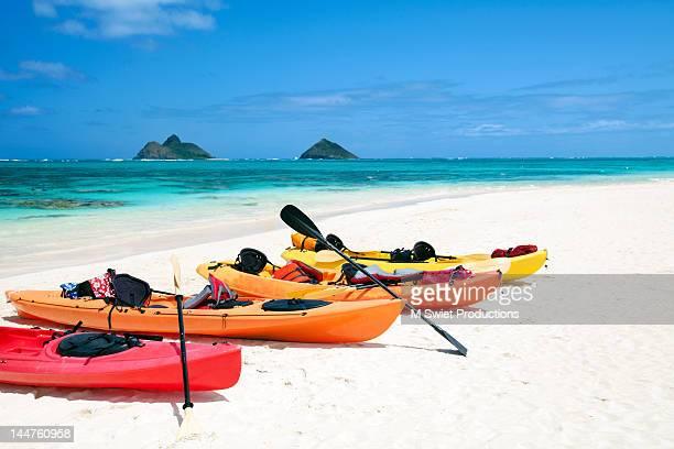Kayaks on Lanikai beach