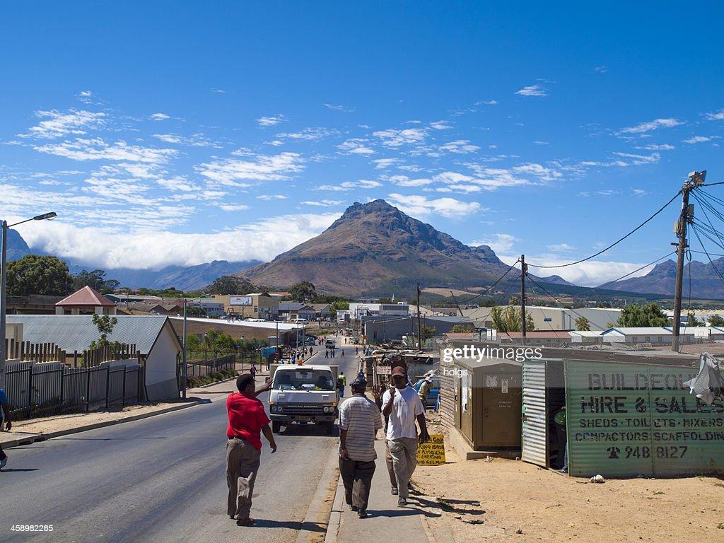 Kayamandi township, Stellenbosch, South Africa : Stock Photo