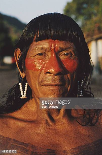 Kayapo man in the Amazon Basin, Brazil, 1992.