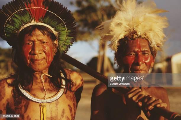 Kayapo people in the Amazon Basin Brazil 2002