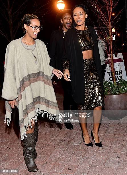 Kaycee and Keri Hilson attend Keri Hilson's Birthday dinner at STK on December 8 2014 in Atlanta Georgia