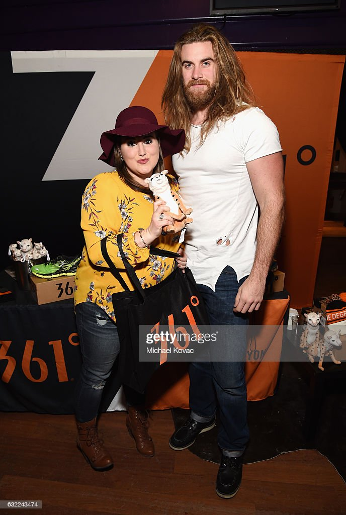 Kaycee Stroh and Brock O'Hurn attends Park City Live Presents The Hub Featuring The Marie Claire Studio and the 4K ULTRA HD Showcase Brought to You by the Consumer Technology Association on January 20, 2017 in Park City, Utah.