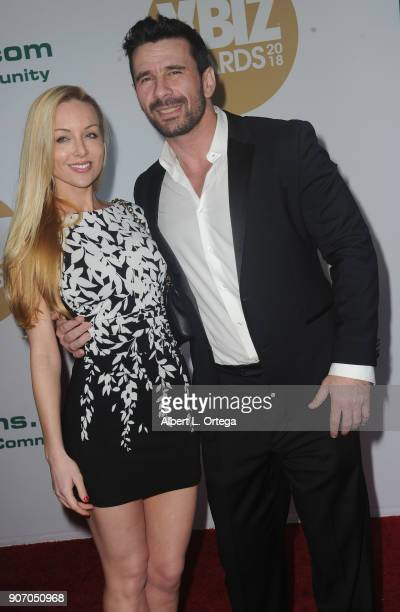 Kayden Kross and Manuel Ferrara arrive for the 2018 XBIZ Awards held at JW Marriot at LA Live on January 18 2018 in Los Angeles California