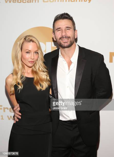 Kayden Kross and Manuel Ferrara attend the 2019 XBIZ Awards on January 17 2019 in Los Angeles California