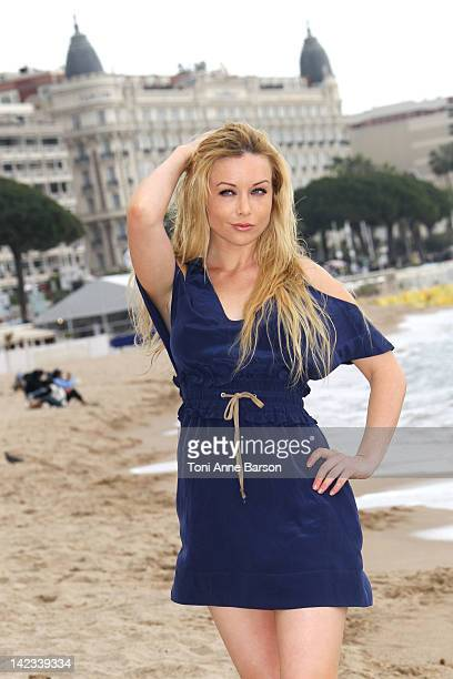 Kayden Kross attends a Playboy TV photocall as part of MIP TV 2012 near Hotel Majestic Beach on April 2 2012 in Cannes France