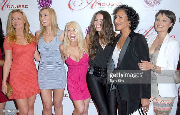 Kayden Kross Tanya Tate Jesse Jane Allie Haze director Deborah Anderson and Belladonna attend the Aroused Los Angeles Premiere on May 1 2013 at the...