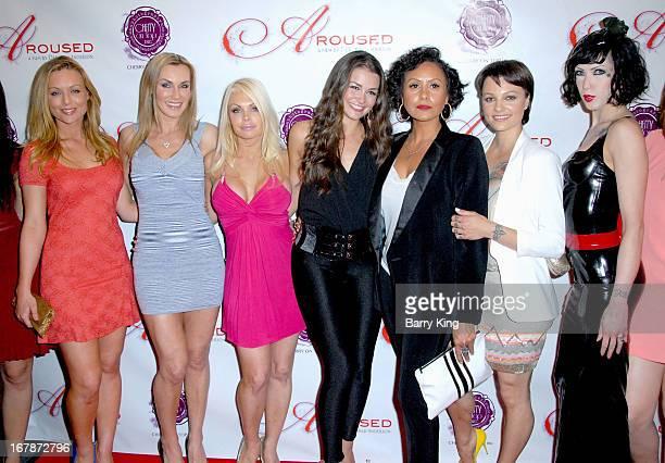 Kayden Kross Tanya Tate Jesse Jane Allie Haze director Deborah Anderson Belladonna and Asphyxia Noir attend the Aroused Los Angeles Premiere on May 1...