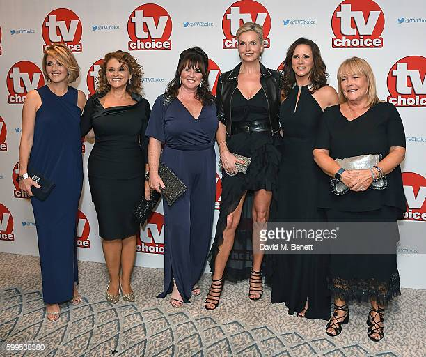 Kaye Adams Nadia Sawalha Coleen Nolan Penny Lancaster Andrea McLean and Linda Robson arrive for the TVChoice Awards at The Dorchester on September 5...