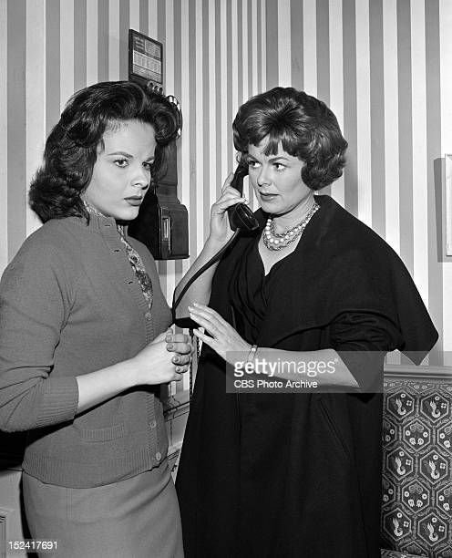 MASON Kaye Elhardt as Virginia Talbot and Barbara Hale as Della Street in The Case of the Borrowed Baby Image dated March 12 1962