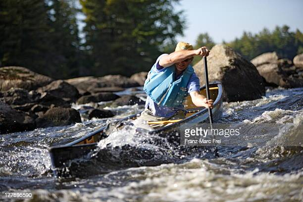 Kayking in white water, Penobscot River
